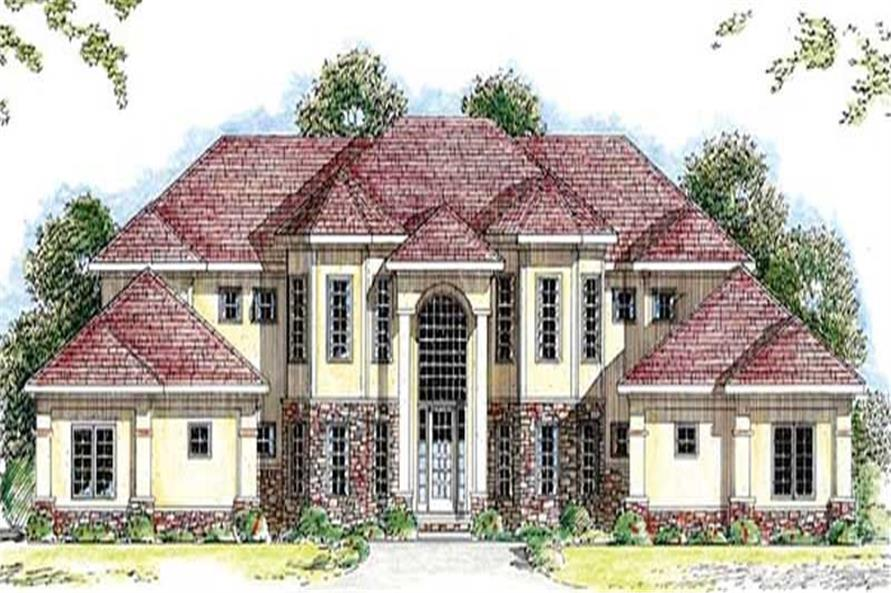 Front elevation of In-Law Suite home (ThePlanCollection: House Plan #100-1026)