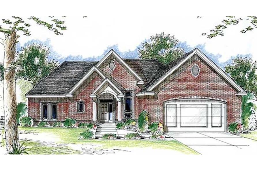 100-1063: Home Plan Rendering