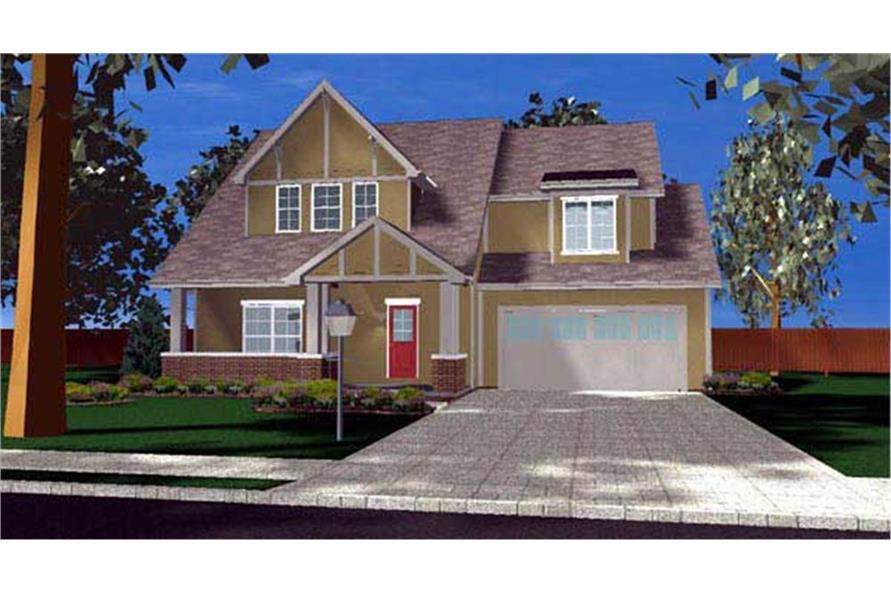 100-1136: Home Plan Rendering