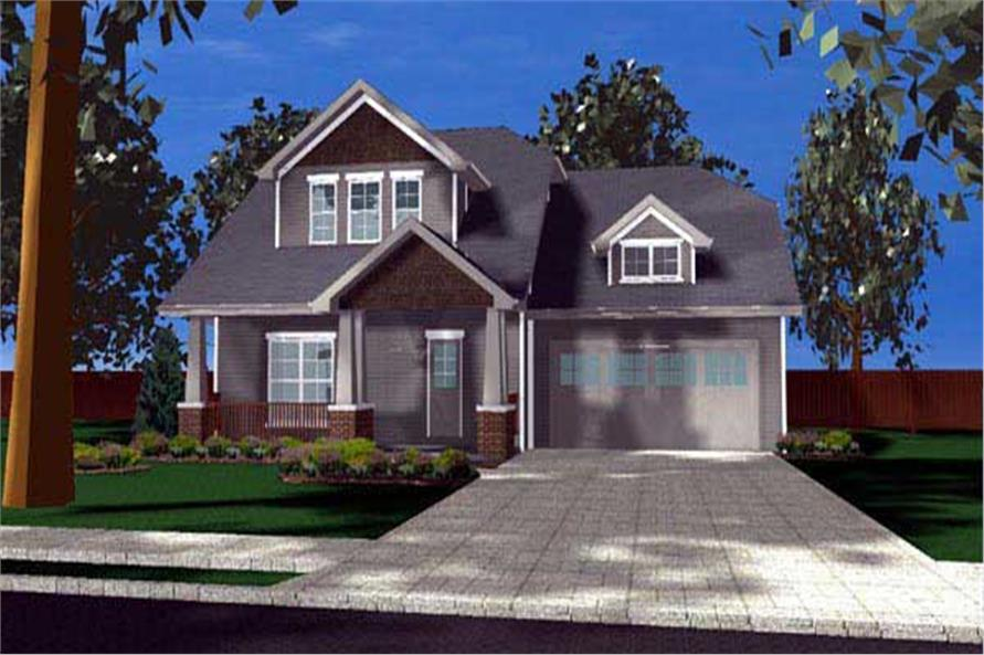 This Homeplan image was created entirely by a computer.