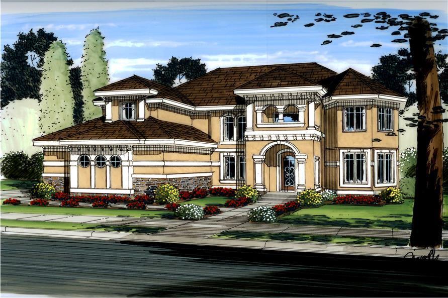 100-1158: Home Plan Rendering