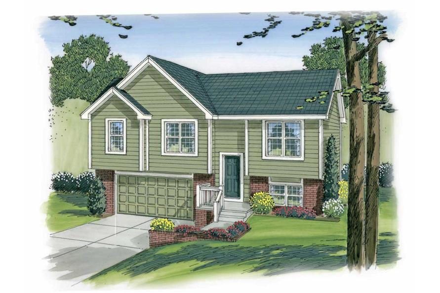 This is a colorful rendering of these Multi-Unit Home Plans.