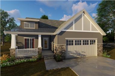 2-Bedroom, 1440 Sq Ft Craftsman Home Plan - 100-1205 - Main Exterior