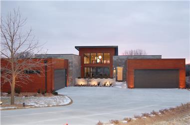 3-Bedroom, 2923 Sq Ft Modern Home Plan - 100-1278 - Main Exterior