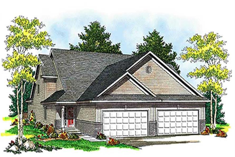Front elevation of Multi-Unit home (ThePlanCollection: House Plan #101-1041)