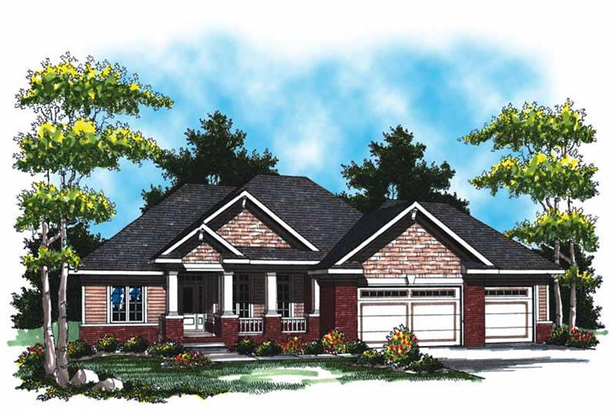 Main image for house plan # 16997