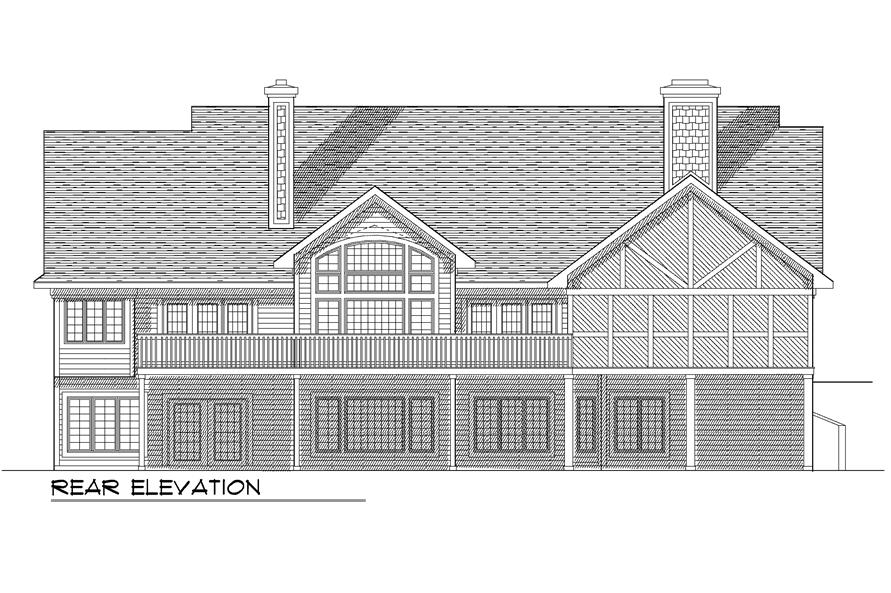 101-1120: Home Plan Rear Elevation
