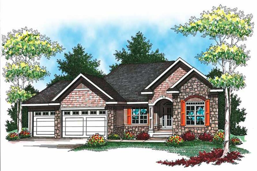 Main image for house plan # 19502