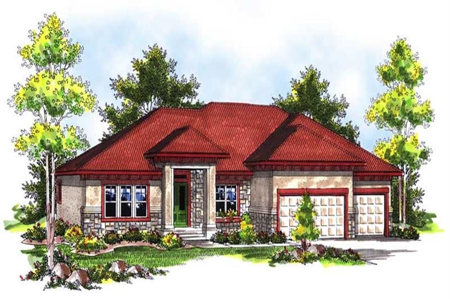 Main image for house plan # 14007