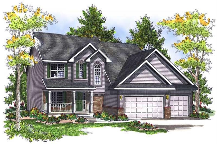 Main image for house plan # 13990