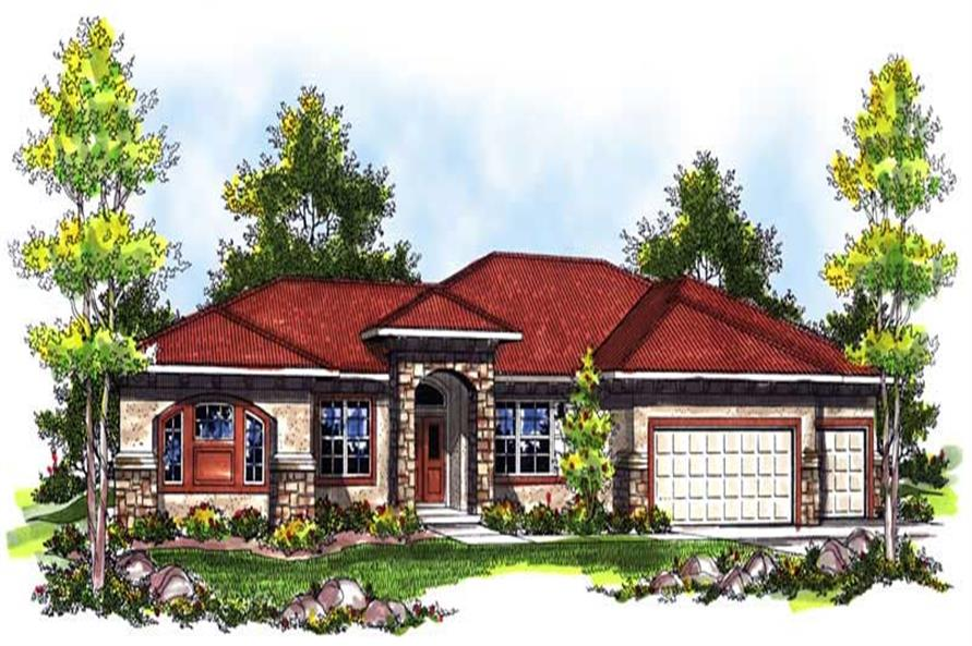 Main image for house plan # 14008