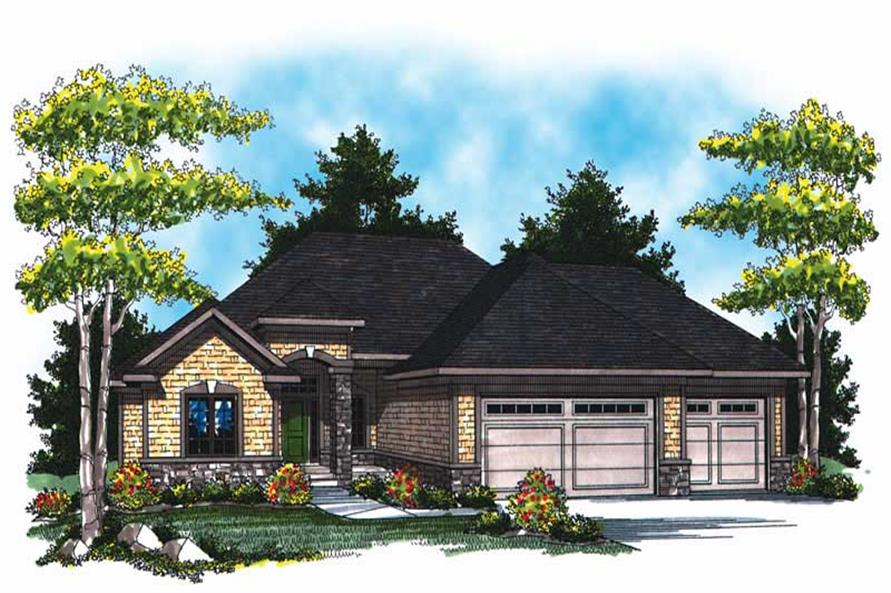 Main image for house plan # 17005