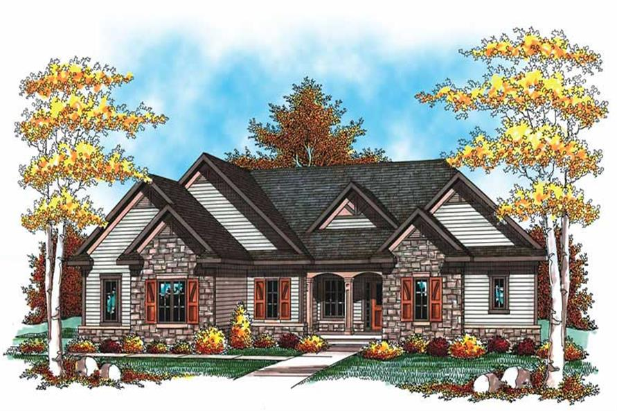 Main image for house plan # 19509