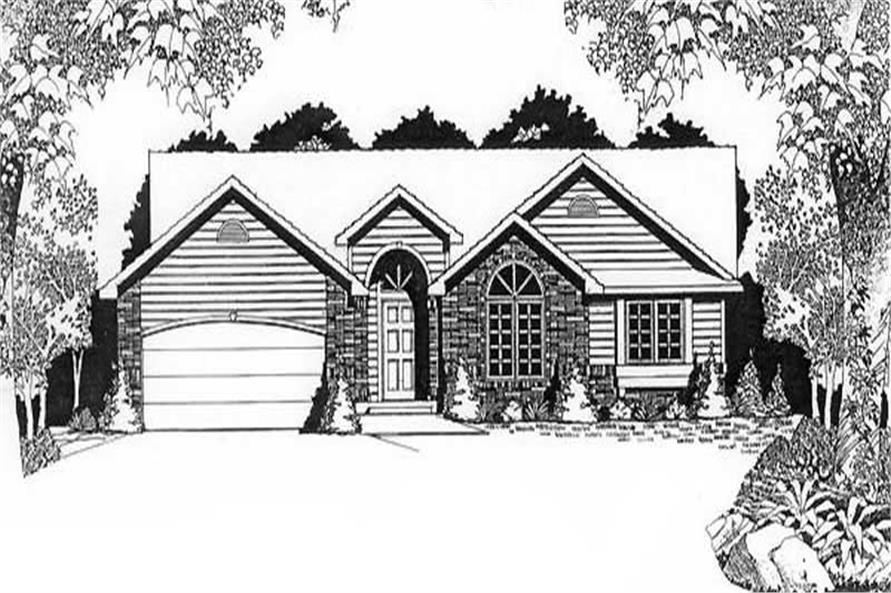 Main image for house plan # 16599