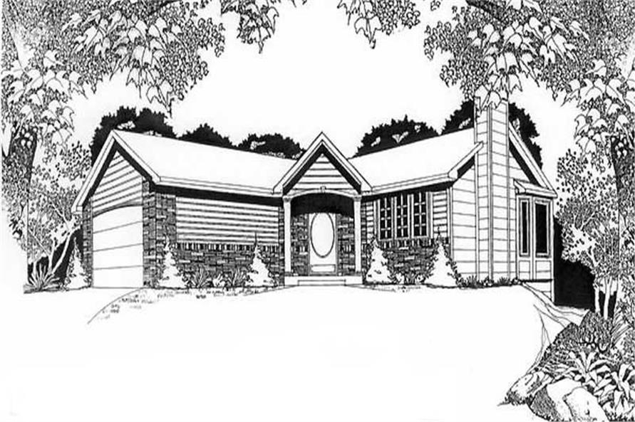 Main image for house plan # 16505