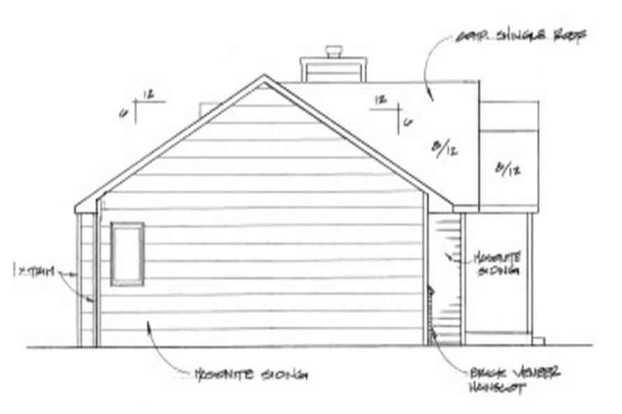 103-1087: Home Plan Left Elevation
