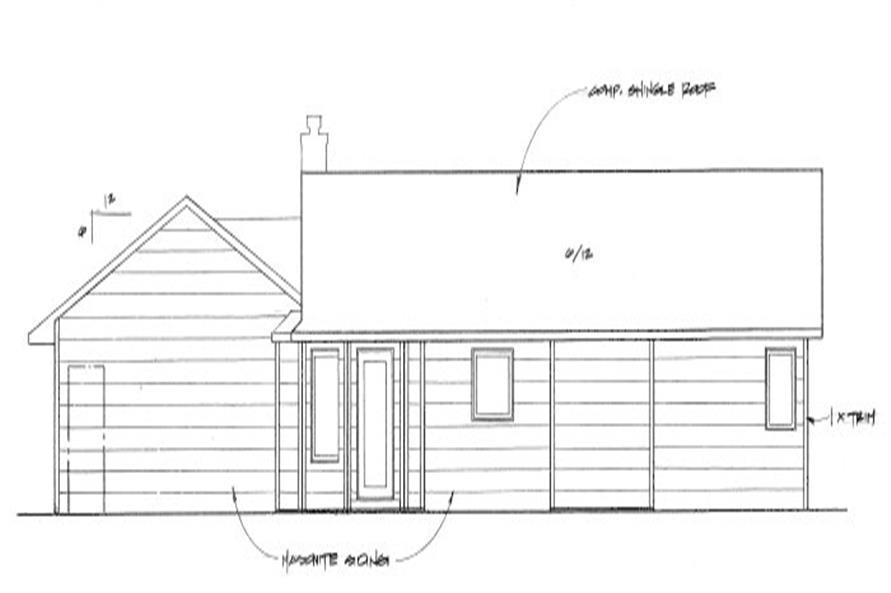 103-1087: Home Plan Rear Elevation