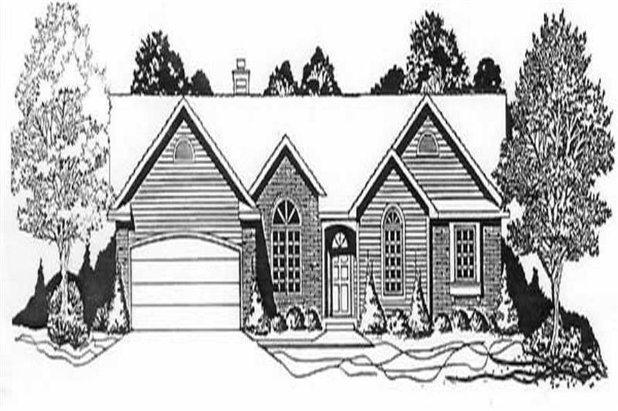 Main image for house plan # 16600