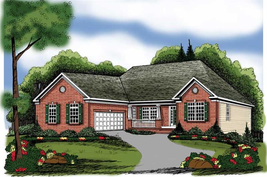 Main image for house plan # 17110