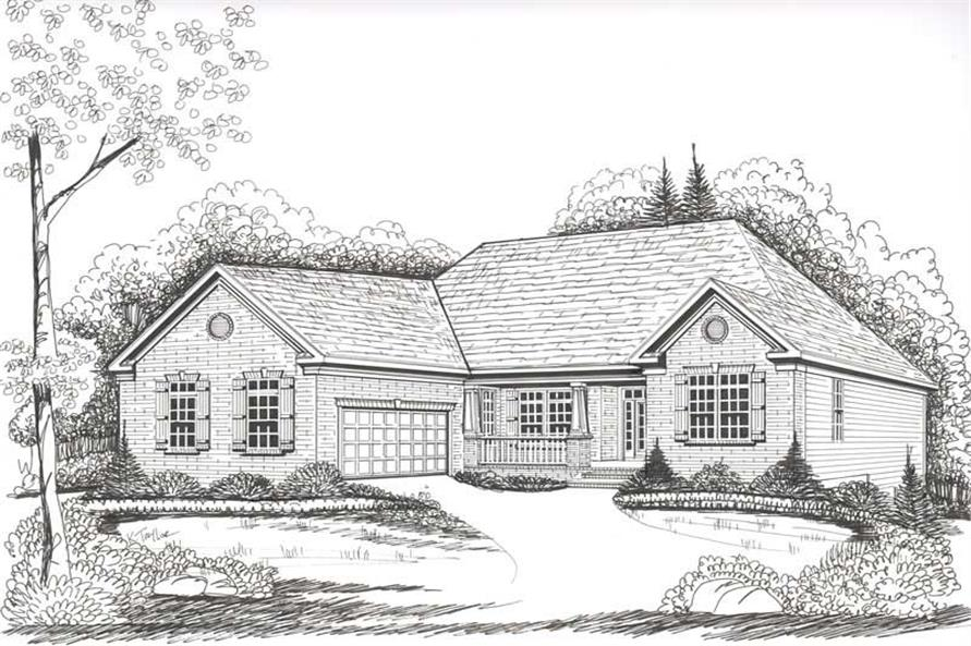 House Plan Thornberry Front Elevation