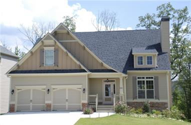 3-Bedroom, 2028 Sq Ft Bungalow House Plan - 104-1002 - Front Exterior
