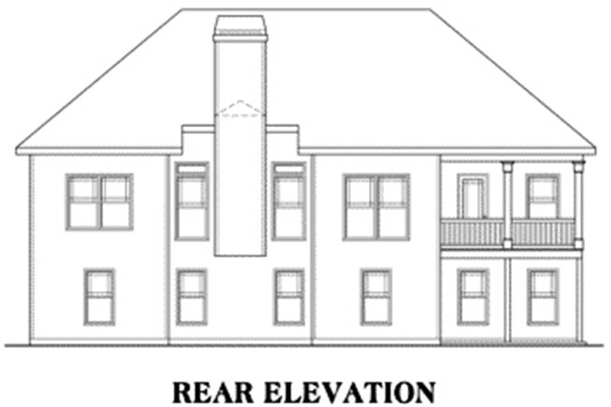 104-1003: Home Plan Rear Elevation