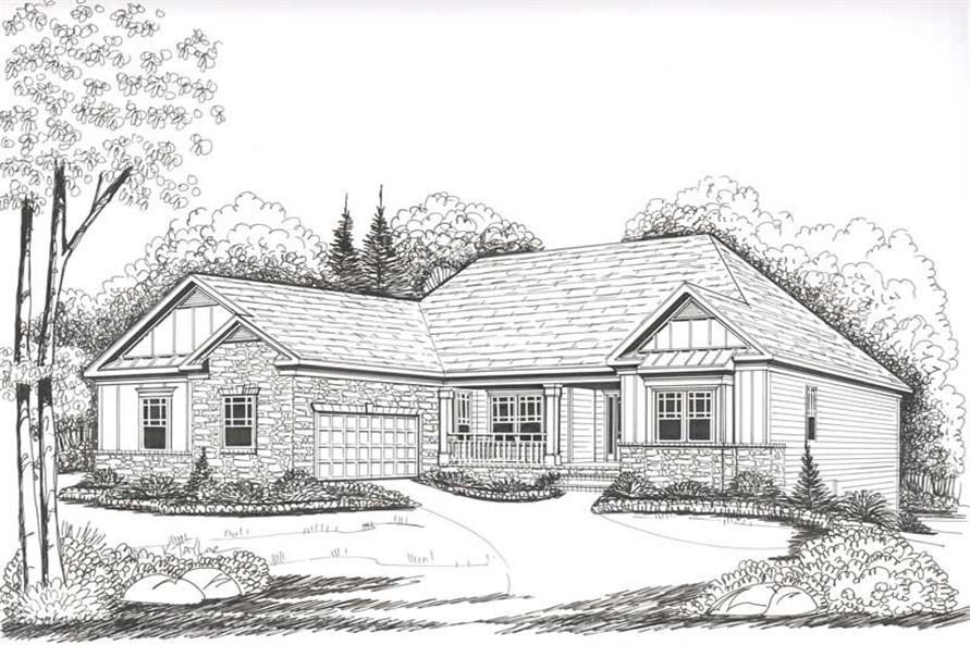 House Plan Bentwater Front Elevation