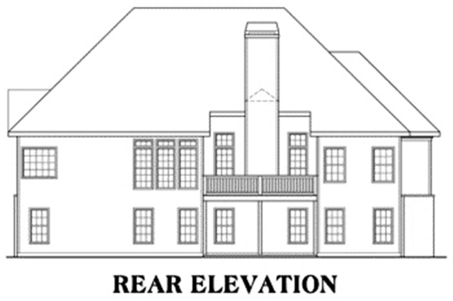104-1004: Home Plan Rear Elevation