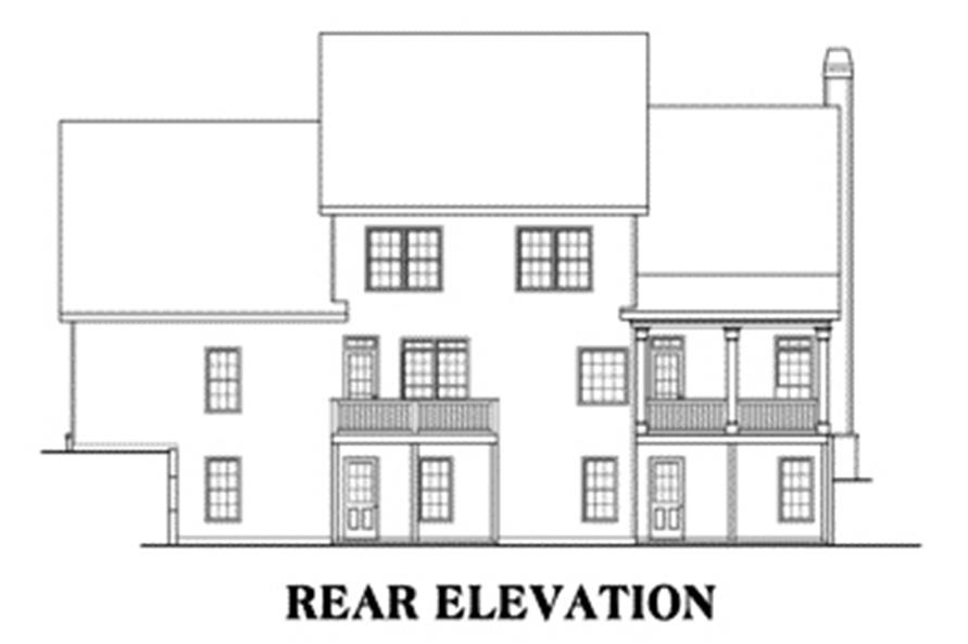 104-1006: Home Plan Rear Elevation