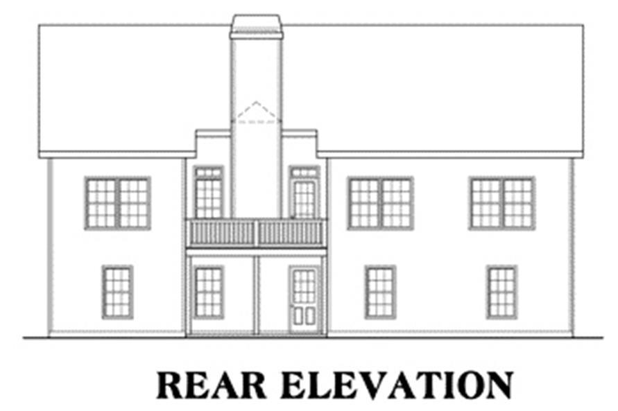 104-1007: Home Plan Rear Elevation