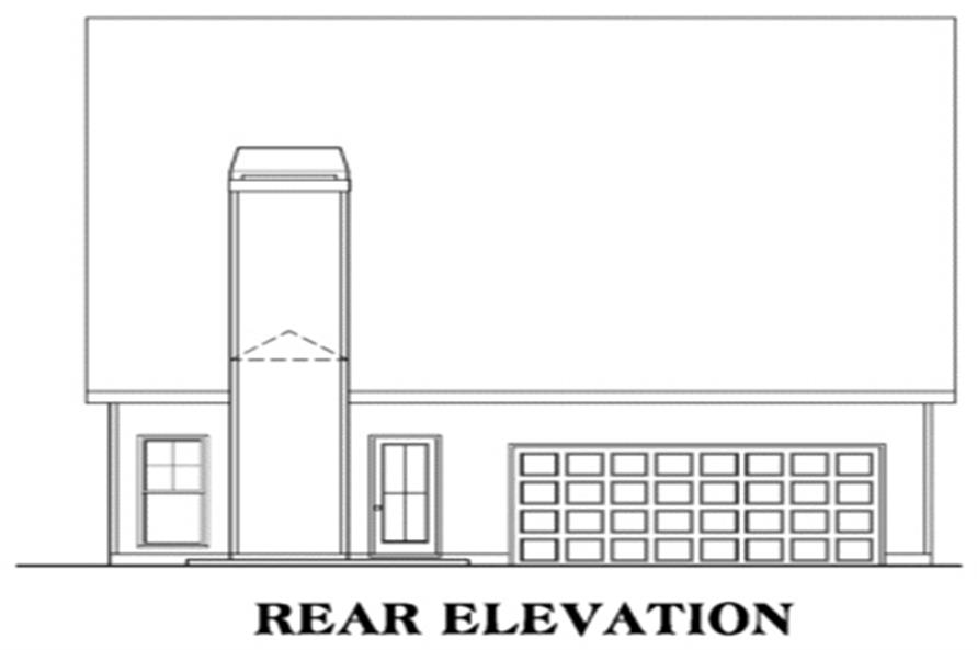 104-1008: Home Plan Rear Elevation