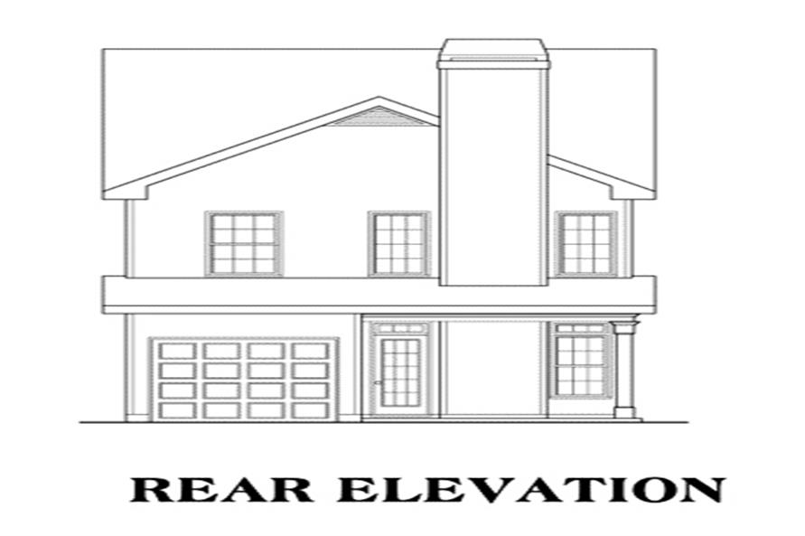 104-1009: Home Plan Rear Elevation