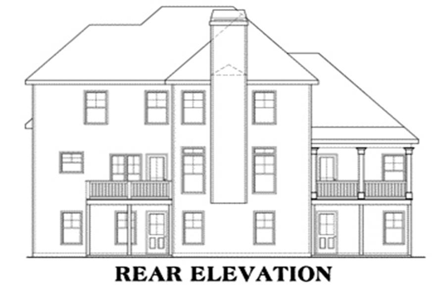 104-1010: Home Plan Rear Elevation