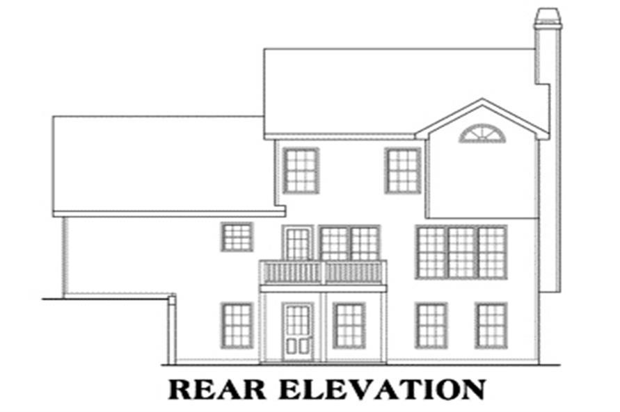 104-1012: Home Plan Rear Elevation