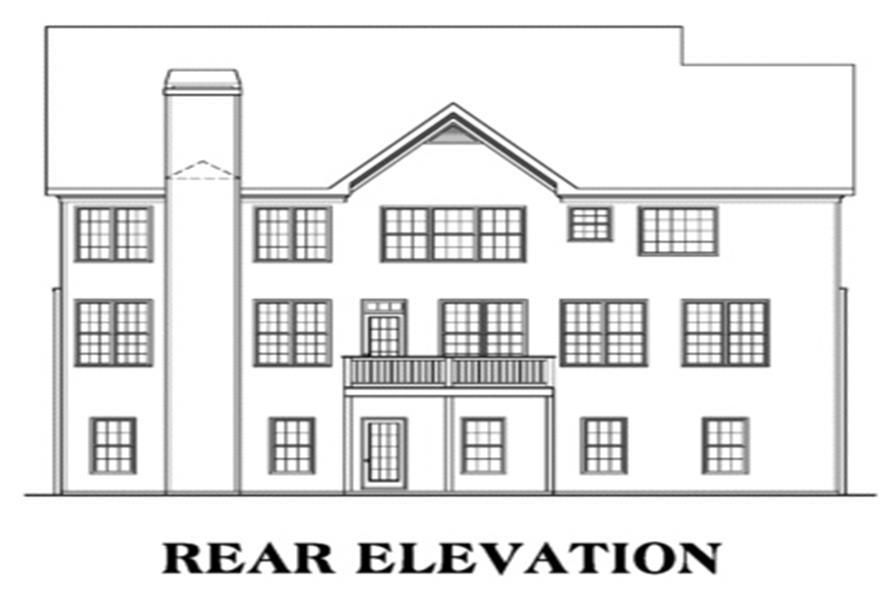 104-1019: Home Plan Rear Elevation
