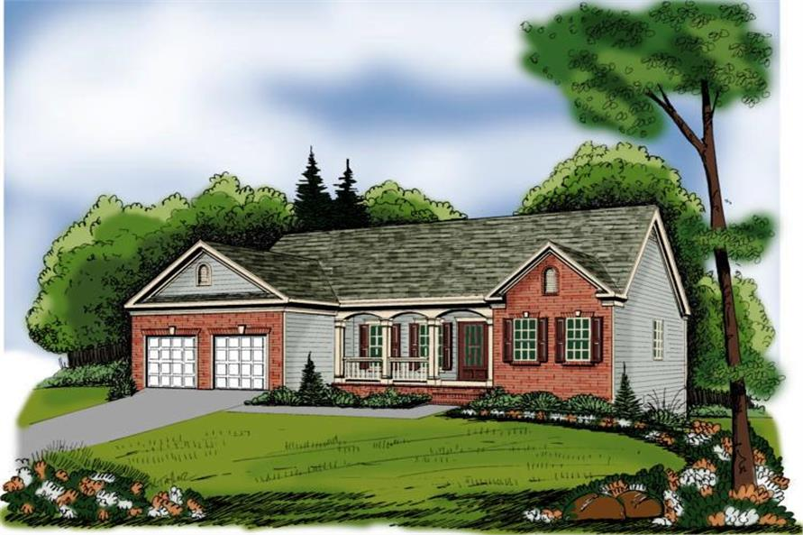 Main image for house plan # 17048