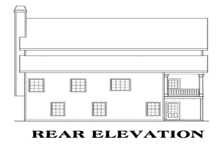 104-1026: Home Plan Rear Elevation