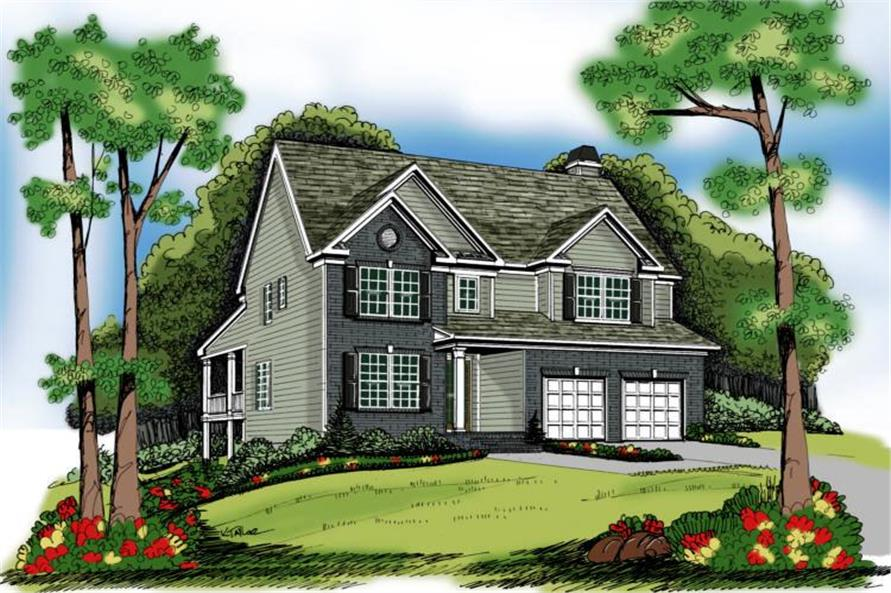 Main image for house plan # 17043