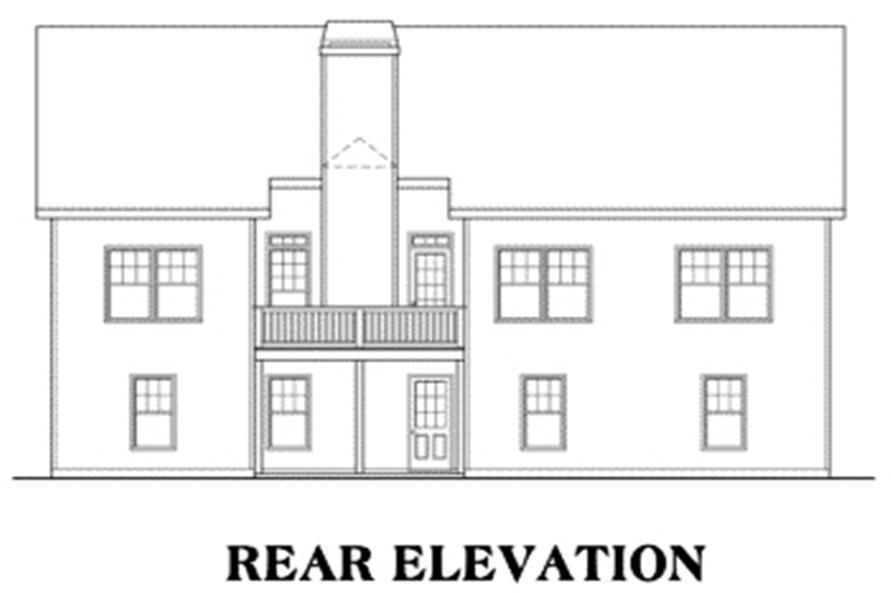 104-1027: Home Plan Rear Elevation