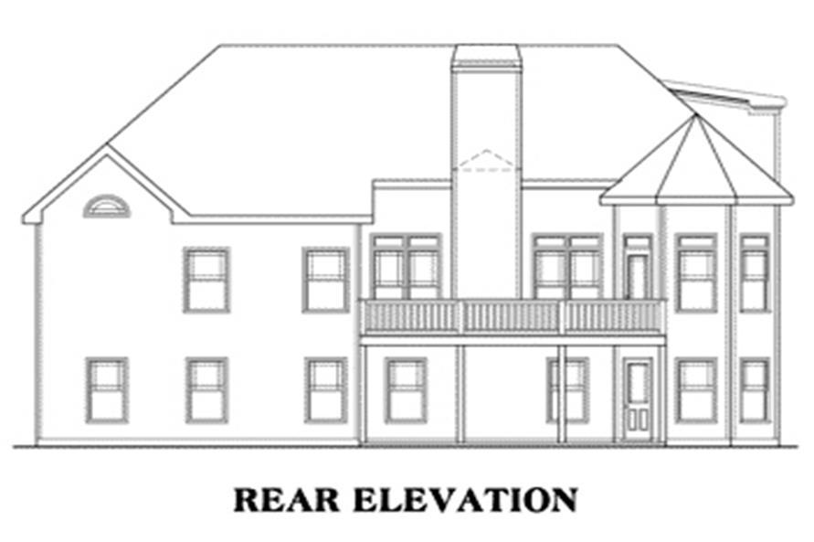 104-1029: Home Plan Rear Elevation