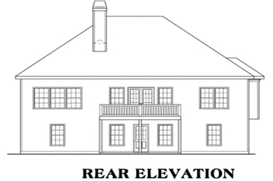104-1030: Home Plan Rear Elevation