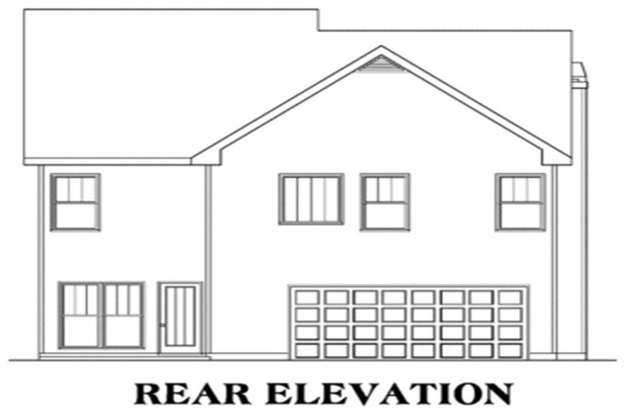 104-1032: Home Plan Rear Elevation