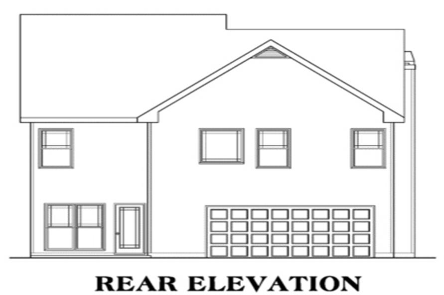 104-1033: Home Plan Rear Elevation