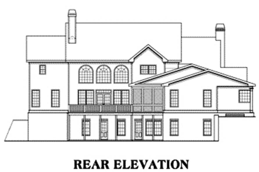 104-1034: Home Plan Rear Elevation