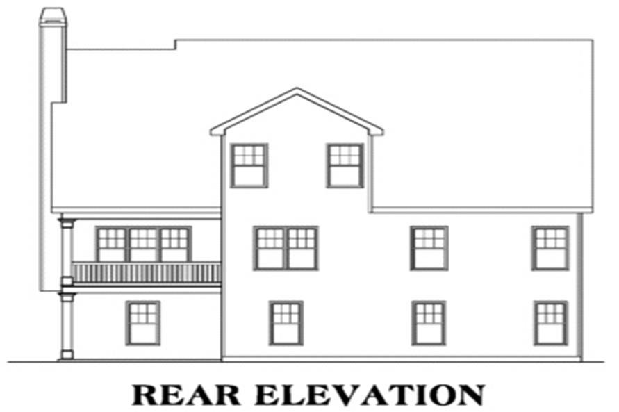 104-1036: Home Plan Rear Elevation