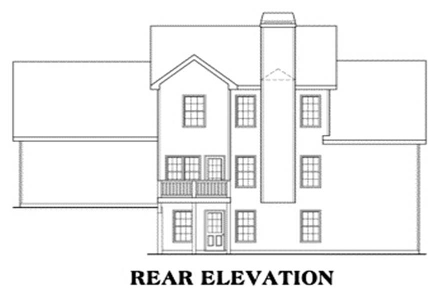 104-1037: Home Plan Rear Elevation