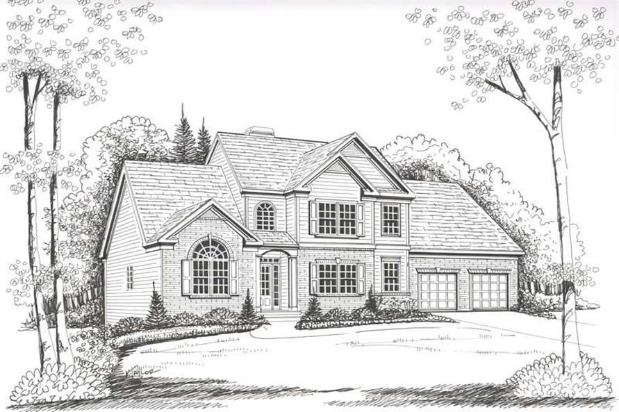 House Plan Centennial Front Elevation