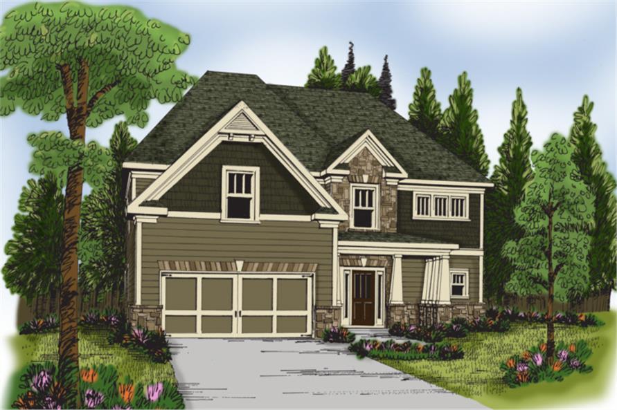 104-1038: Home Plan Rendering
