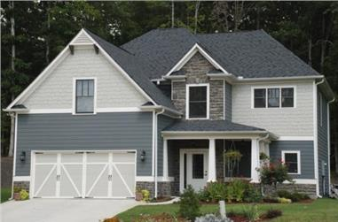 4-Bedroom, 2510 Sq Ft Craftsman Home Plan - 104-1038 - Main Exterior
