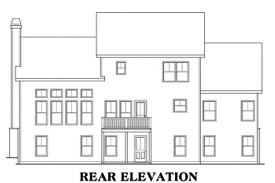104-1042: Home Plan Rear Elevation